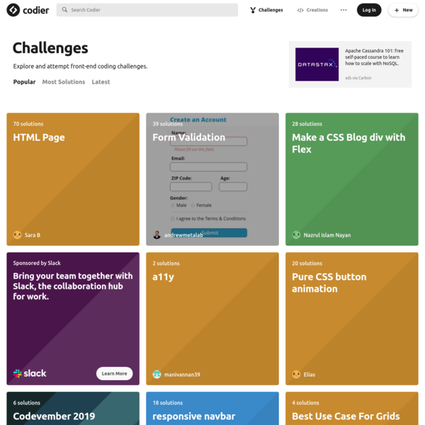 Codier - Front-end Coding Challenges