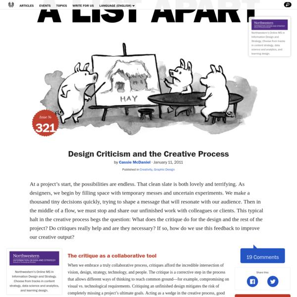 Design Criticism and the Creative Process