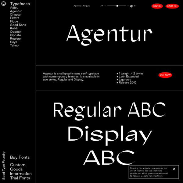 Agentur - Good Type Foundry