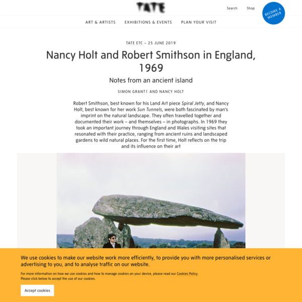 Nancy Holt and Robert Smithson in England, 1969: Notes from an ancient island - Tate Etc | Tate
