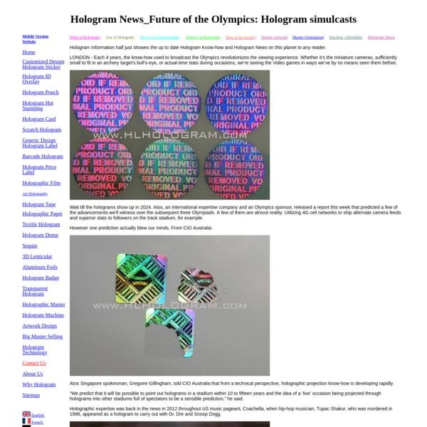 Hologram News_Future of the Olympics: Hologram simulcasts