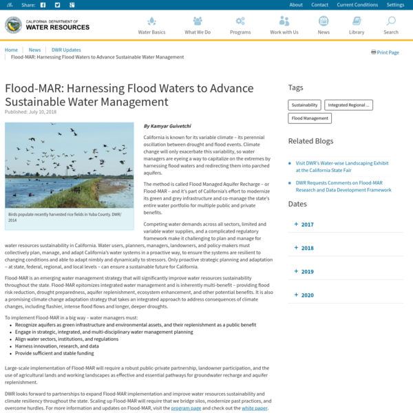 Flood-MAR: Harnessing Flood Waters to Advance Sustainable Water Management