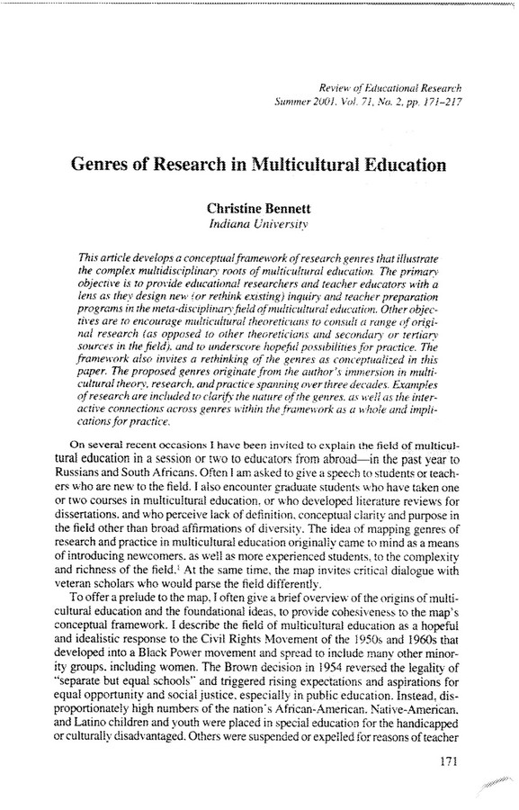the need for cultural sensitivity in multicultural special education essay As educators in rapidly transitioning schools, we need to reexamine everything we're doing continuing with business as usual will mean failure or mediocrity for too many of our students, as the data related to racial, cultural, linguistic, and economic achievement gaps demonstrate (national center for education statistics, 2005.