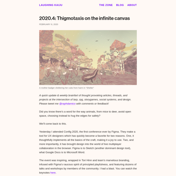 2020.4: Thigmotaxis on the infinite canvas