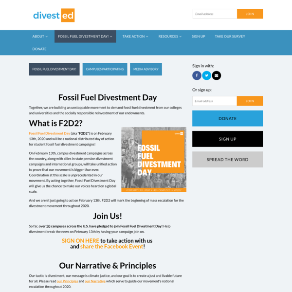 Fossil Fuel Divestment Day