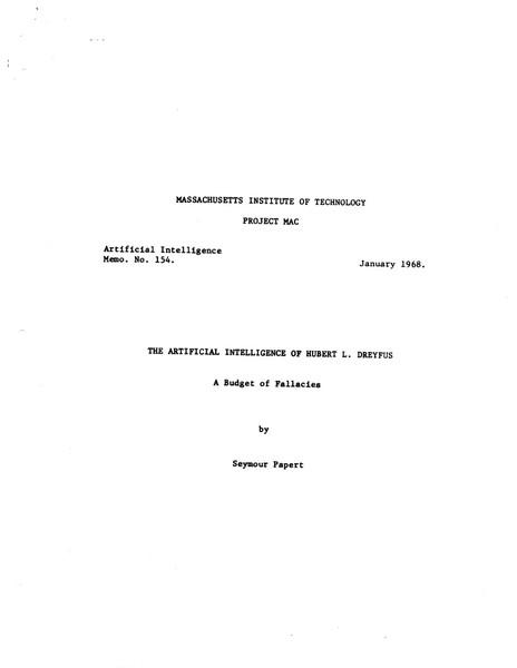 The Artificial Intelligence of Hubert L. Dreyfus