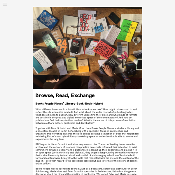 Browse, Read, Exchange