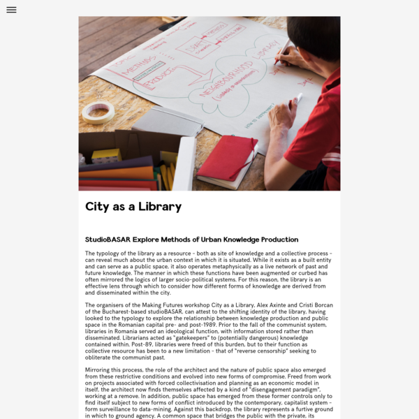 City as a Library