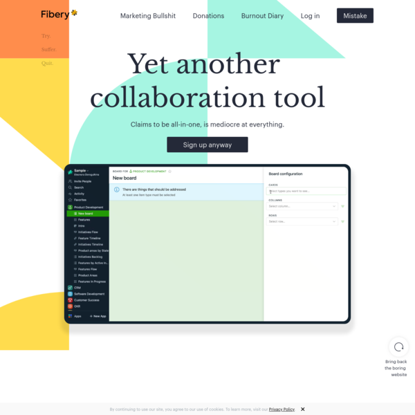 Fibery   Yet another collaboration tool