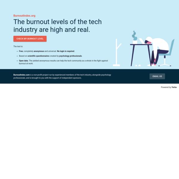 Global IT Burnout Index