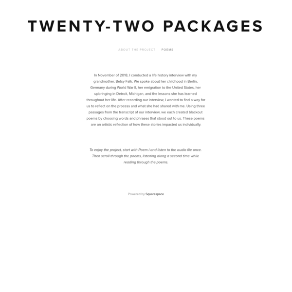 Twenty-Two Packages