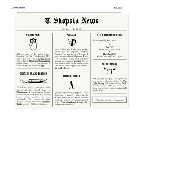 T. Shopsin News