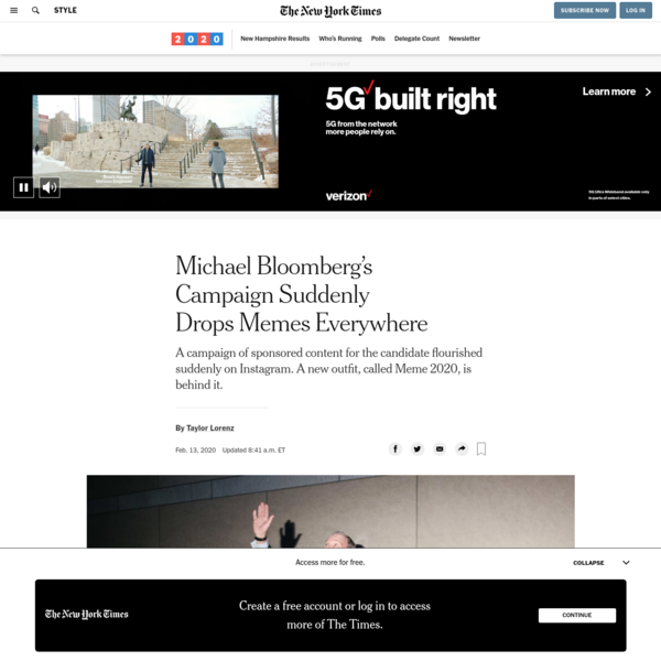 Michael Bloomberg's Campaign Suddenly Drops Memes Everywhere