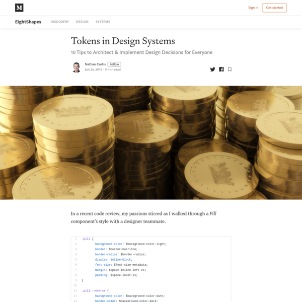 Tokens in Design Systems - EightShapes - Medium