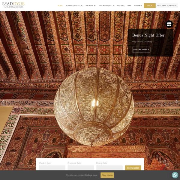 Home | Marrakech hotel riad Luxury | Ryad Dyor |Boutique riad Morocco