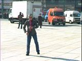 "Welcome to Berlin! #AdrianPiper #Alexanderplatz Adrian Piper, Adrian Moves to Berlin, 2007. Endless loop video wall projection; color, sound, 62:42. Collection of the Adrian Piper Research Archive Foundation Berlin. @ APRA Foundation Berlin. Music credit Ian Pooley, ""Samo Illuzija,"" from Souvenirs; 00:04:46 Video credit Robert Del Principe"