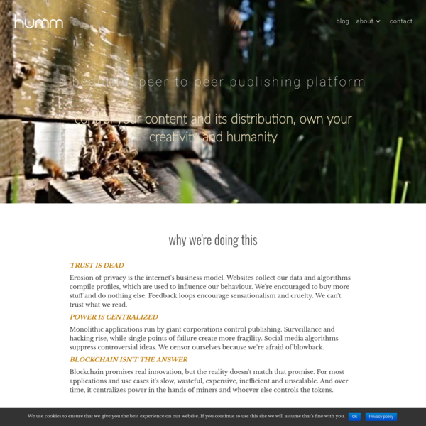 Humm | Simple self-publishing: a distributed platform for free creative expression