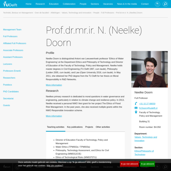 Prof.dr.mr.ir. N. (Neelke) Doorn