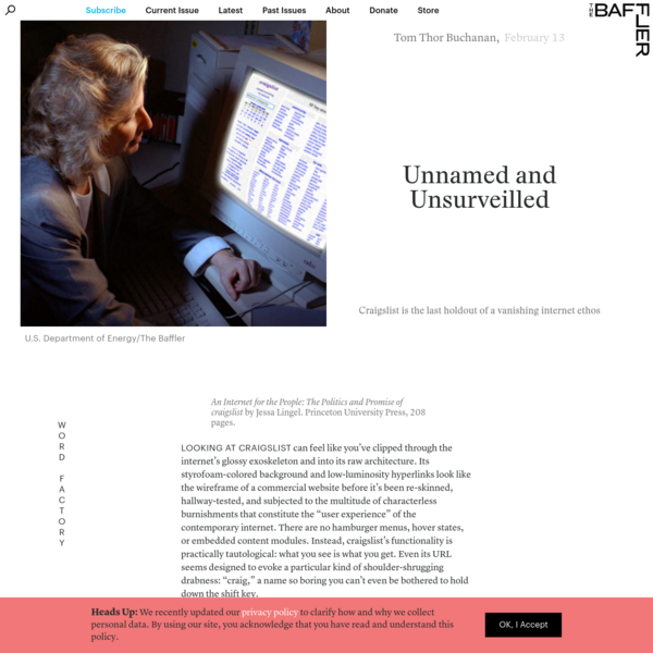 Unnamed and Unsurveilled | Tom Thor Buchanan