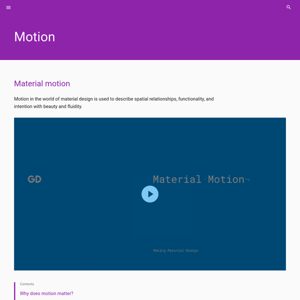 Material motion - Motion - Google design guidelines