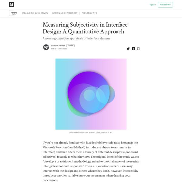 Measuring Subjectivity in Interface Design: A Quantitative Approach