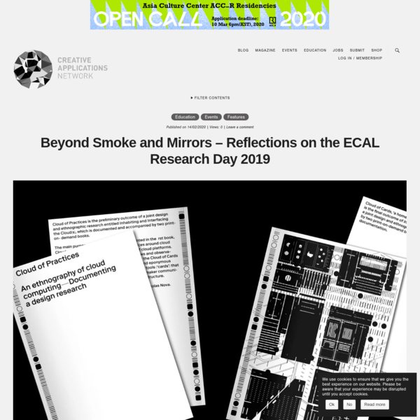 Beyond Smoke and Mirrors – Reflections on the ECAL Research Day 2019