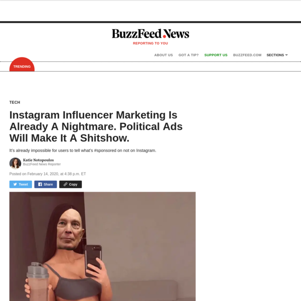 Instagram Influencer Marketing Is Already A Nightmare. Political Ads Will Make It A Shitshow.