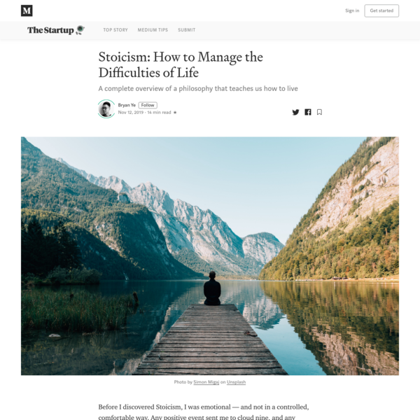 Stoicism: How to Manage the Difficulties of Life
