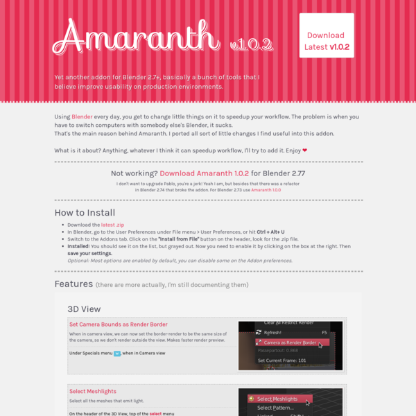 Amaranth Toolset