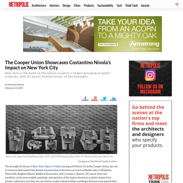 The Cooper Union Showcases Costantino Nivola's Impact on New York City - Metropolis