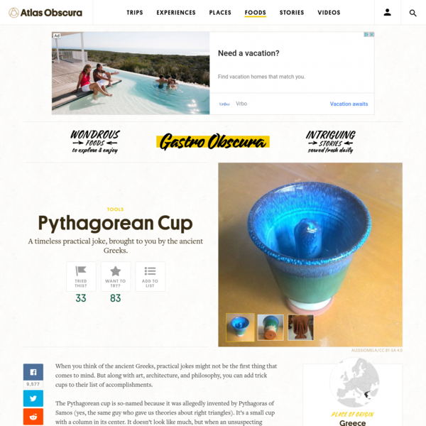 The Prank Cup Allegedly Invented by Pythagoras