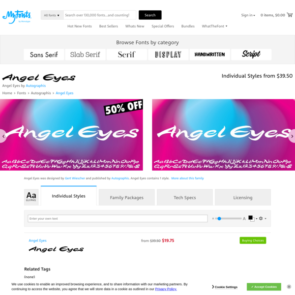 Angel Eyes | Webfont & Desktop font | MyFonts