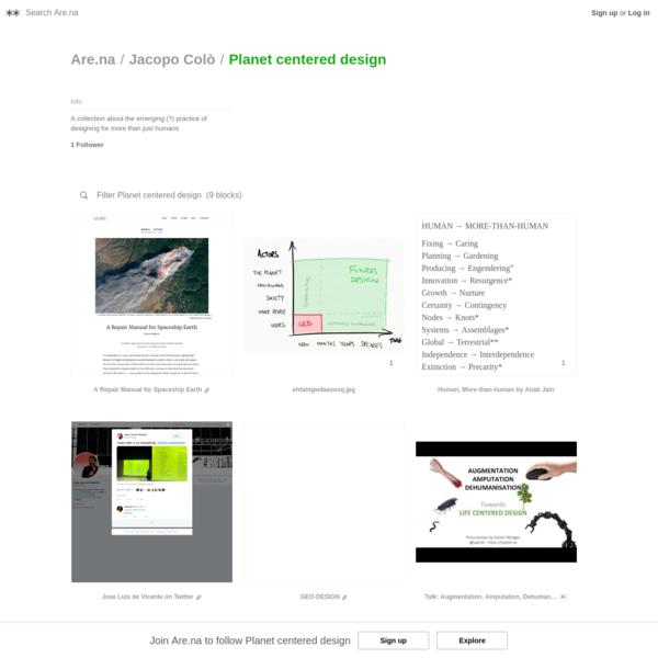 Are.na / Planet centered design