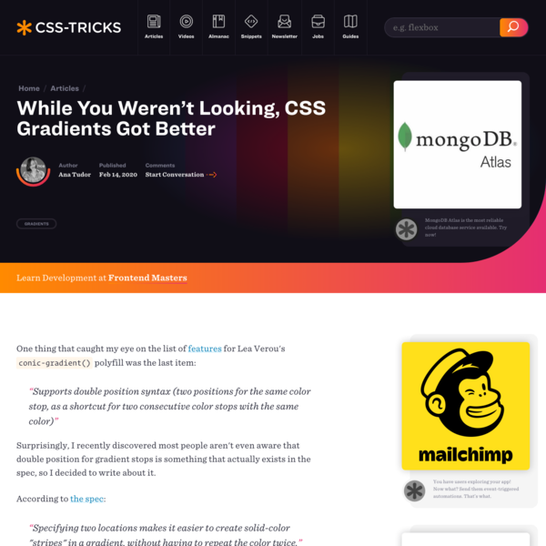 While You Weren't Looking, CSS Gradients Got Better | CSS-Tricks
