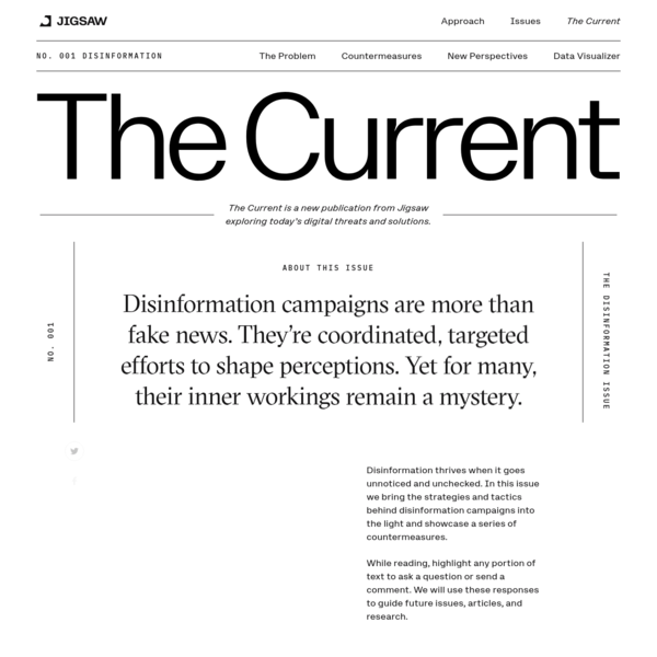 The Disinformation Issue - The Current   Jigsaw