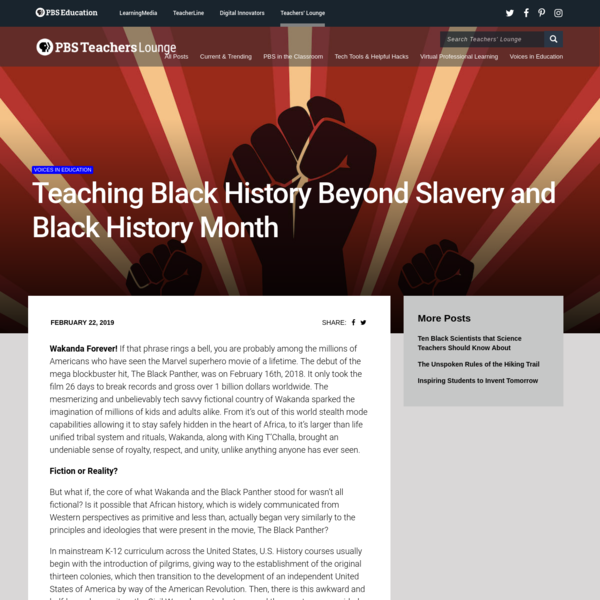 Teaching Black History Beyond Slavery and Black History Month | PBS Education