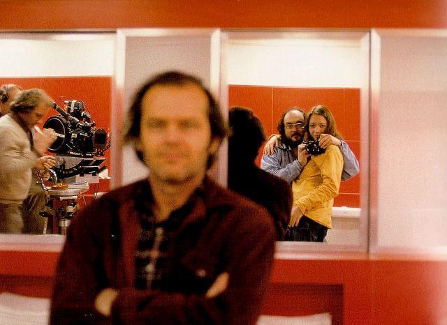 Photo of Jack Nicholson taken by Stanley Kubrick with his Wife during the filming of The Shining