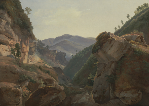 Mountain Landscape with the Road to Naples