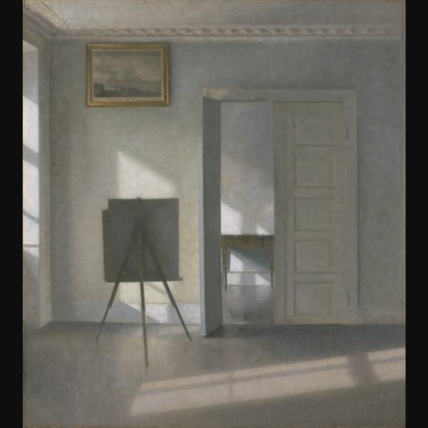 Interior with an Easel. Bredgade 25