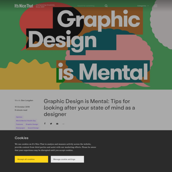 Graphic Design is Mental: Tips for looking after your state of mind as a designer