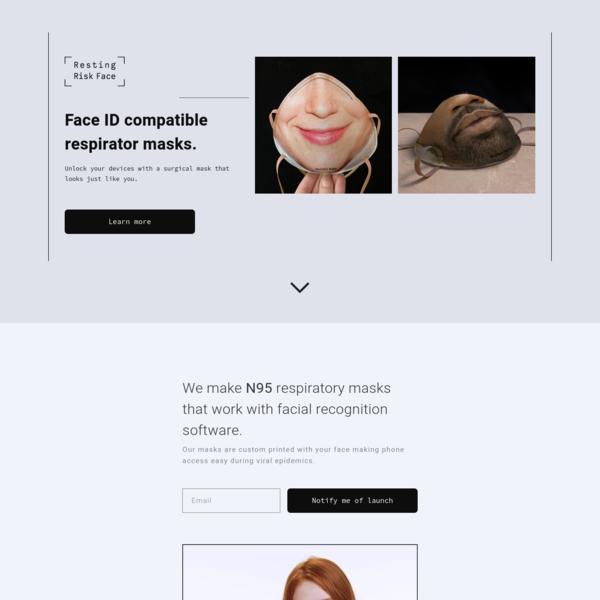 Facial ID Respirator Masks