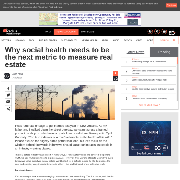Why social health needs to be the next metric to measure real estate