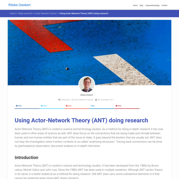 Using Actor-Network Theory (ANT) doing research