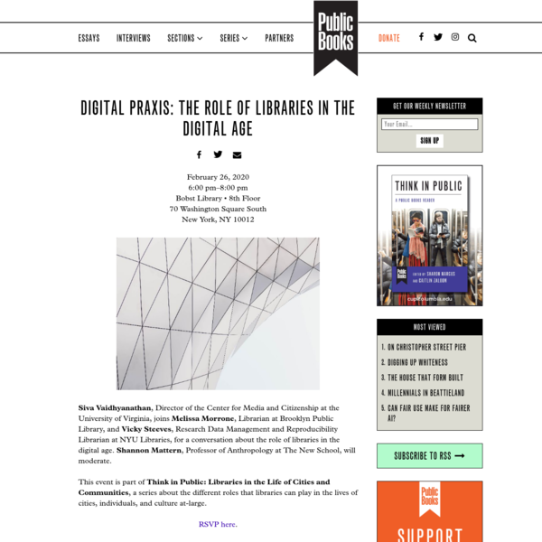 Digital Praxis: The Role of Libraries in the Digital Age