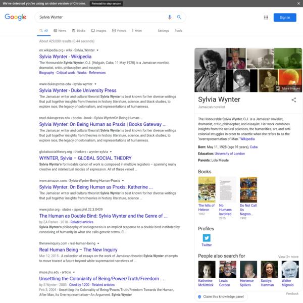 Sylvia Wynter - Google Search