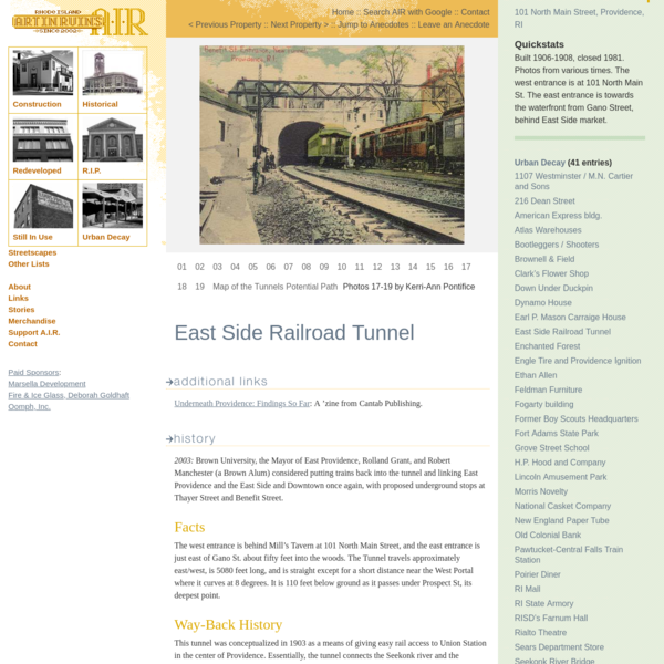 AIR Decay :: East Side Railroad Tunnel