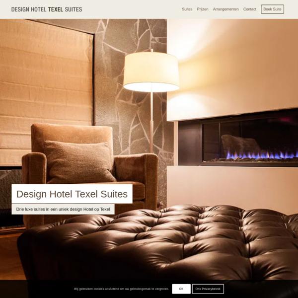 Hotel Texel   Drie luxe suites in een uniek Design Hotel op Texel