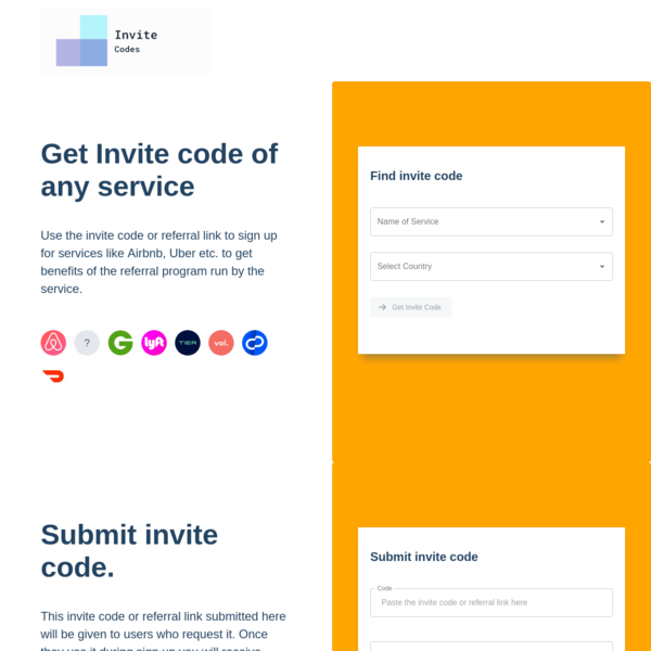 Invite codes