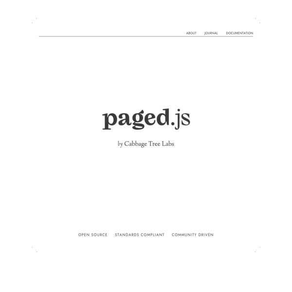 pagedjs, home of HTML printing