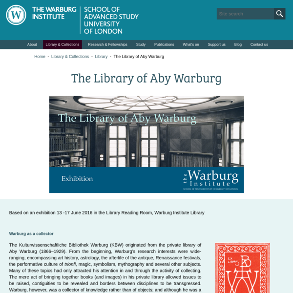 The Library of Aby Warburg
